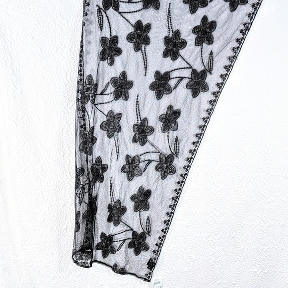 Accessories - Sheer Sequin Floral Embroidered Mesh Evening Wrap